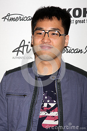 Hee Jun Han arrives at the American Idol s  Editorial Photography