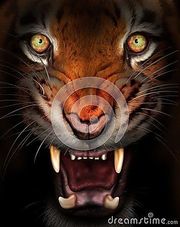 Heftiger Tiger