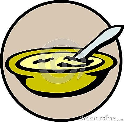 Heiße Hühnersuppe - Hafermahlzeit - Schüssel Getreide - Sahne