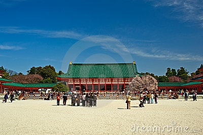 Heian Jingu Shrine Kyoto Japan Editorial Photography