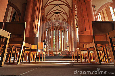 Catholic church interior architecture