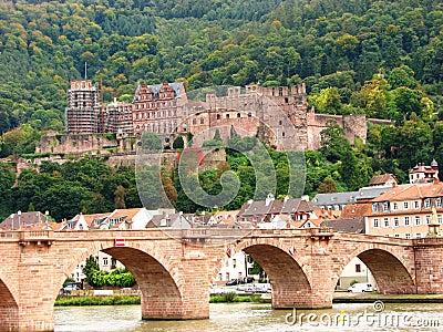 Heidelberg : Old Bridge and castle