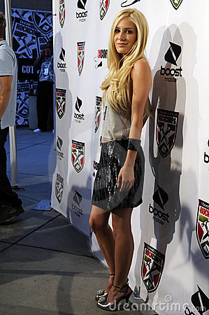 Heidi Montag on the red carpet. Editorial Image