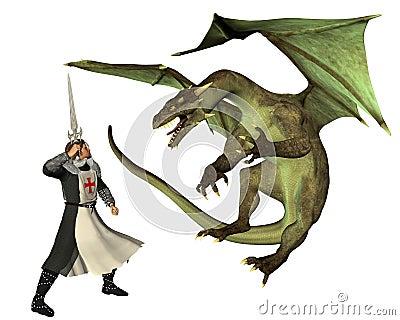 Heiliges George und der Drache