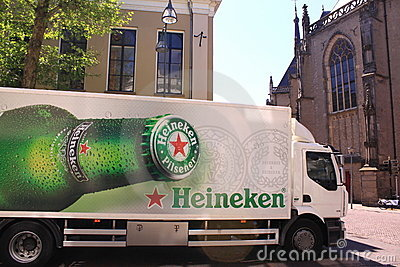 Heineken beer delivery truck Editorial Photo