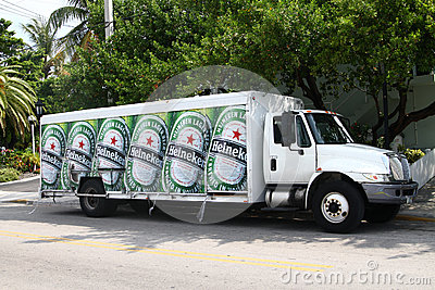 Heineken beer delivery truck Editorial Photography