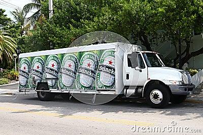 Heineken beer delivery truck Editorial Photography