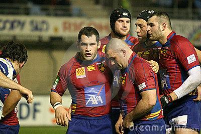 Heineken Cup rugby match USAP vs Tr Editorial Stock Image