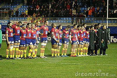 Heineken Cup rugby match USAP vs Treviso Editorial Image