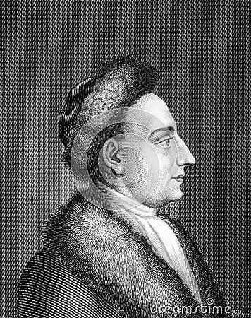 Heinrich Wilhelm von Gerstenberg Editorial Stock Image