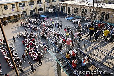 Held evacuation drills Editorial Photo