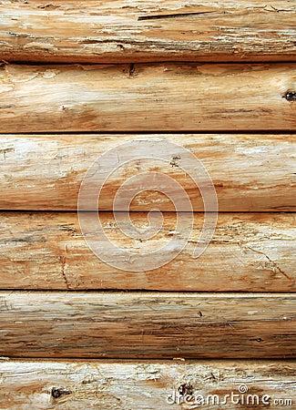 Heldere houten logboekmuur