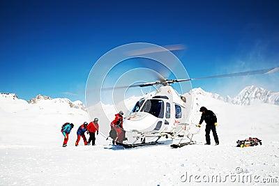 Heli-Skiing Editorial Photo