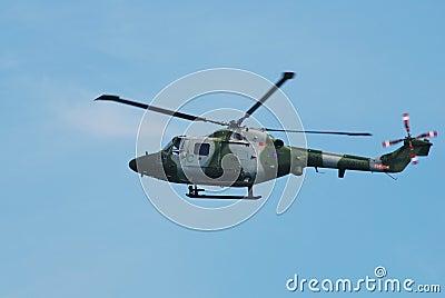 Helicóptero del lince AH.7 de Westland Foto de archivo editorial