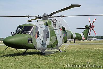 Helicóptero real del lince del ejército Imagen de archivo editorial