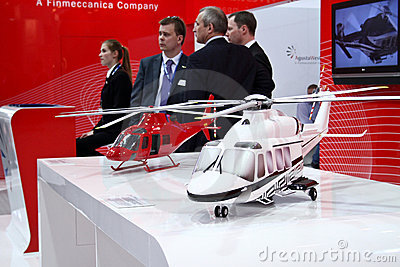 Helicopter. Agusta Westland AW139 and AW119 Editorial Stock Photo