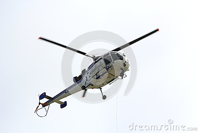 Helicopter in air Editorial Stock Image