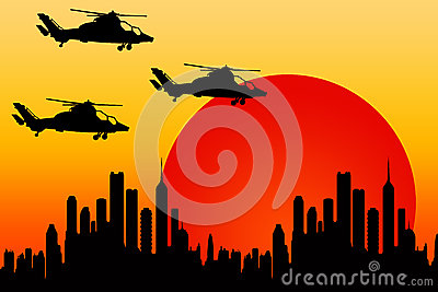 Helicopter attack