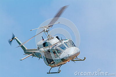 Helicopter Augusta Bell 212 Editorial Stock Photo