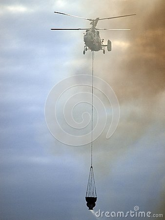 Helicopter Fighting Fire Stock Photo - Image: 23210130