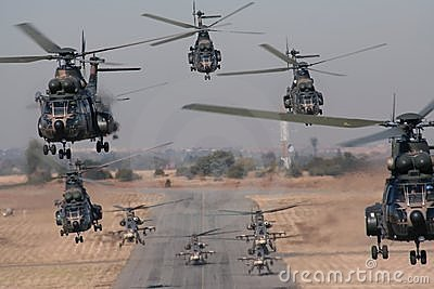 Helicopter formo take-off