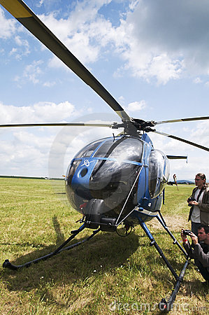 Helicopter Hughes MD 530F Editorial Stock Image