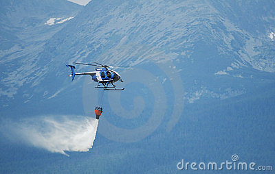 Helicopter Hughes MD 530F  - Fighting Fir Editorial Photography
