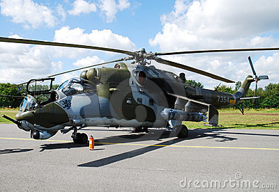Helicopter Mi-35 Mi-24 Editorial Stock Photo
