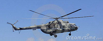 Helicopter MI-8  in the sky