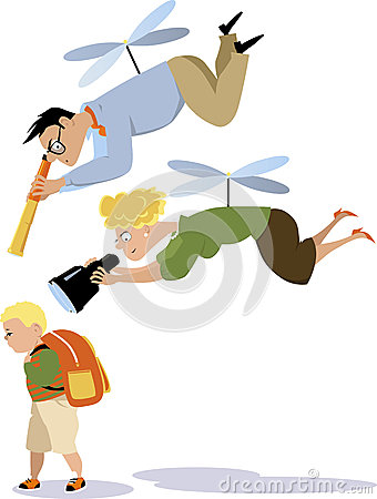 Free Helicopter Parenting Stock Photography - 62252292