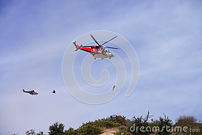 Helicopter rescue Editorial Image