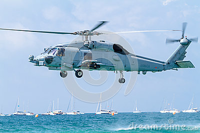 Helicopter SH-60B Seahawk Editorial Stock Photo