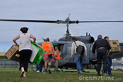 Helicopter supplies Editorial Stock Photo