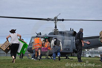 Helicopter supplies Editorial Stock Image