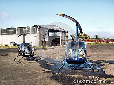 Helicopters & Hangar