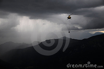 Helicopters in the rain