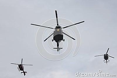 Helikoptrar Redaktionell Foto