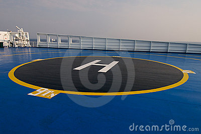 Helipad area on ship