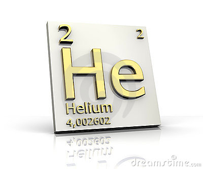 HELIUM FORM PERIODIC TABLE OF ELEMENTS (click image to zoom)