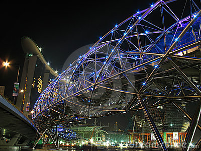 The Helix bridge opens Editorial Photography