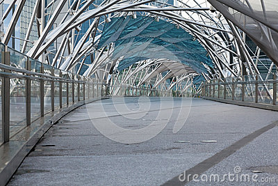 Helix Bridge in Singapore Editorial Image