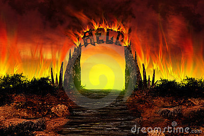 The HELL On Fire Royalty Free Stock Photo - Image: 11632645