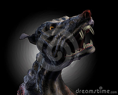 Hell Hound Howling - with clipping path