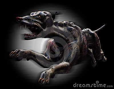 Hell Hound Running - with clipping path