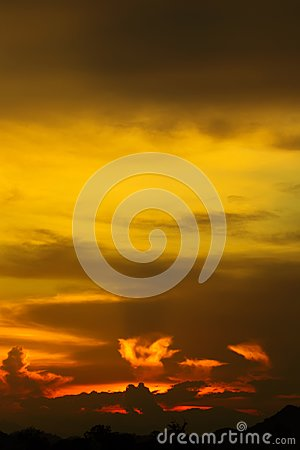 Free Hell In Heaven Colorful Clouds Silhouette Blue Sky Background Evening Golden Sunset With Rays Of Light Shining Through Clouds. Stock Images - 102699524