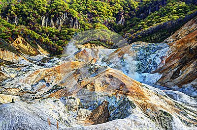 Hell Valley in Northern Japan