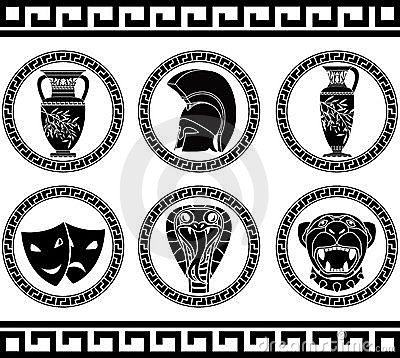 Free Hellenic Buttons Royalty Free Stock Photo - 19609065