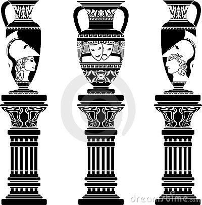 Hellenic jugs with columns