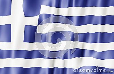 Hellenic Republic, Greece Flag