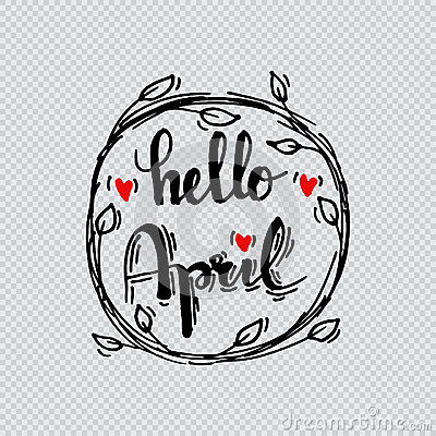 Hello april Stock Photo